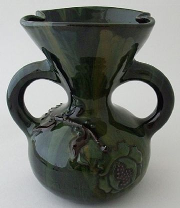 Elton Ware Pottery Green Two Handled Green Vase
